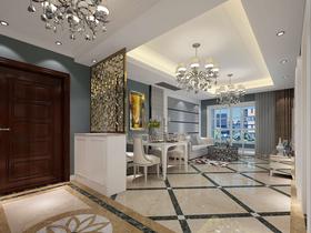 80平米三室兩廳歐式風格餐廳裝修圖片大全