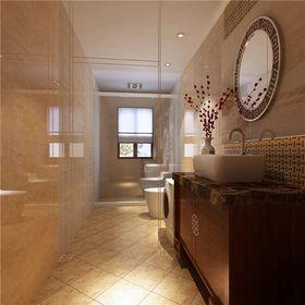 豪华型140平米三室三厅中式风格卫生间装修案例