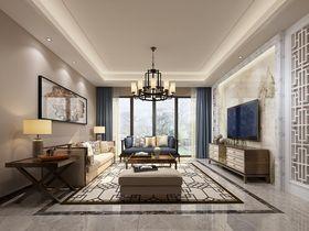 富裕型100平米三室一厅中式风格客厅设计图