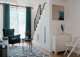 60平米复式北欧风格客厅装修图片大全