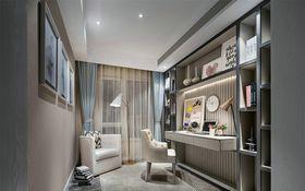 120平米三室两厅美式风格书房照片墙装修案例