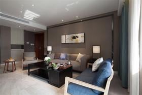 10-15万90平米三室两厅混搭风格客厅图
