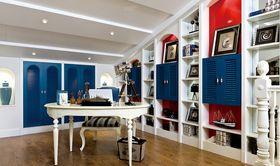 80平米复式地中海风格书房设计图
