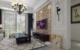 70平米三室两厅美式风格客厅欣赏图
