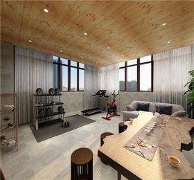 140平米别墅美式风格健身室欣赏图
