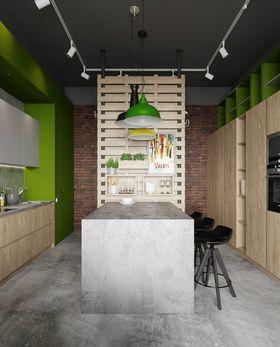 富裕型90平米三室一厅美式风格餐厅图