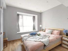 140平米三室三厅北欧风格卧室图片大全