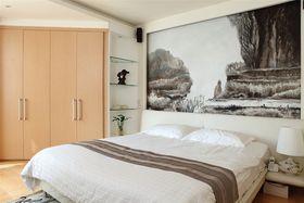 80平米现代简约风格卧室效果图