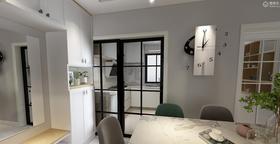 60平米三室两厅北欧风格餐厅图