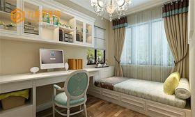 富裕型110平米三室两厅新古典风格书房图片大全