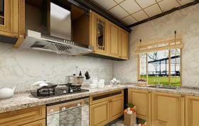 140平米四室兩廳田園風格廚房櫥柜圖片大全