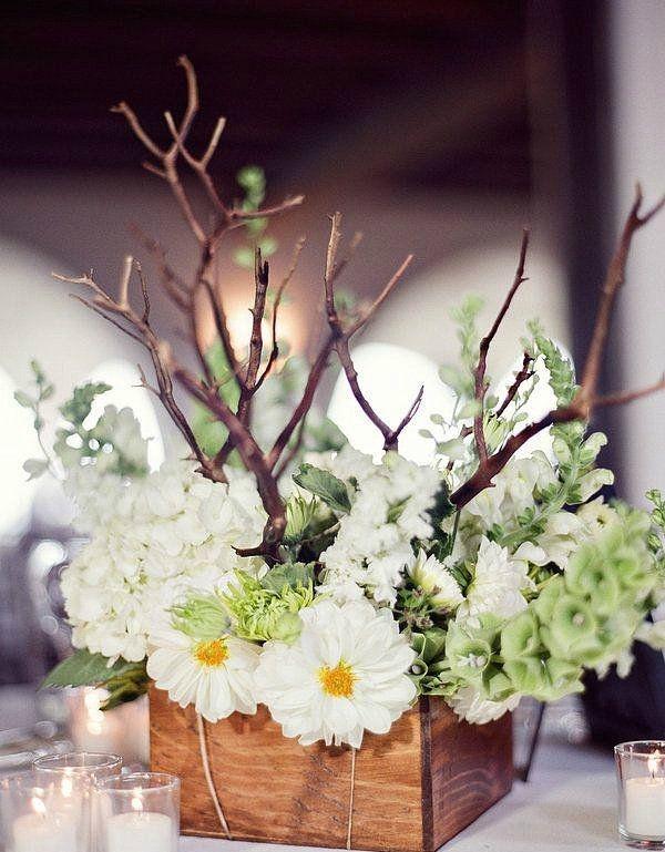 简洁木质花盒 森系小清新婚礼必备