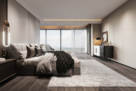 140平米四室兩廳現代簡約風格臥室裝修案例