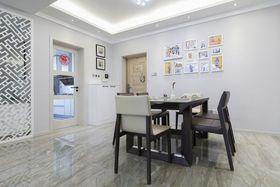 5-10万90平米三室一厅现代简约风格餐厅图