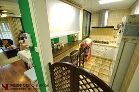 經濟型80平米三室兩廳美式風格廚房欣賞圖