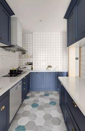 140平米三室三厅北欧风格厨房图片大全
