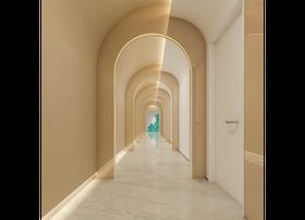 混搭风格走廊效果图