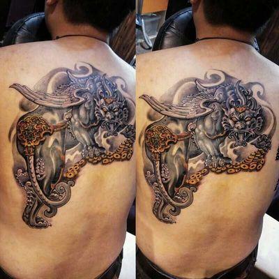 麒麟纹身图-大众点评纹身图案大全