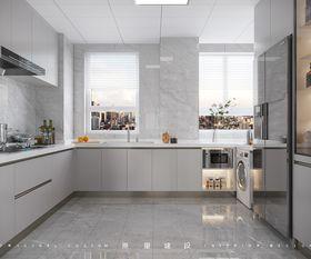120平米三室一廳現代簡約風格廚房圖