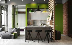 10-15万90平米三室一厅美式风格客厅效果图