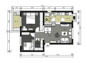 90平米美式风格其他区域装修效果图