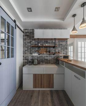 110平米三室一厅现代简约风格厨房图片