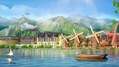 【河源等】河源巴伐利亚美思皇家酒店1晚+多人温泉+万绿湖+福源寺-美团