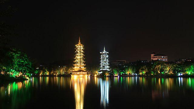 两江四湖景区夜景