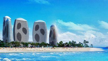 【惠州等】惠州双月湾檀悦豪生度假酒店1晚+4人三角洲岛船票门票+4早-美团