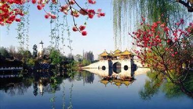 【扬州等】扬州运河春天饭店1晚+双早+双人扬州瘦西湖门票-美团