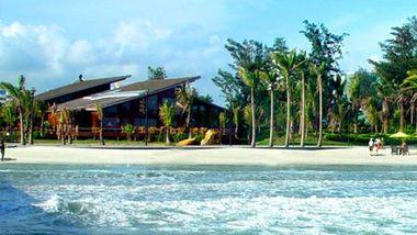 【北海等】北海古厘岛度假酒店1晚+双人海洋之窗门票-美团