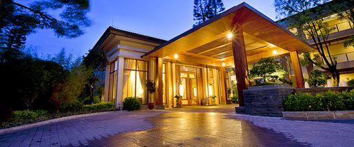 【中山等】中山温泉宾馆度假村住宿1晚+双人中山温泉门票+双早-美团