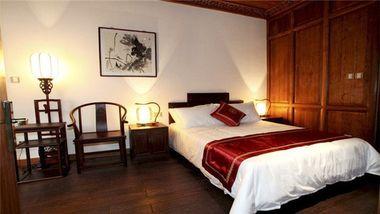【扬州等】扬州长乐客栈主题文化酒店1晚+双人个园门票+双早-美团