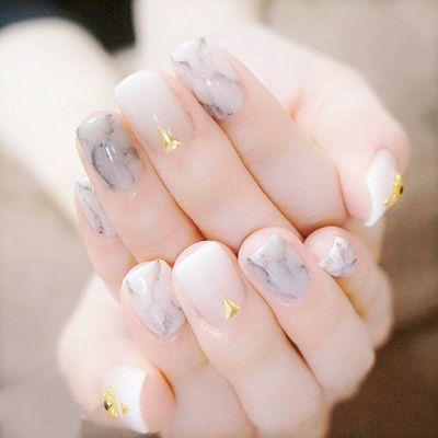 水墨中国风美甲图