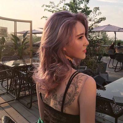 个性粉紫色效果图