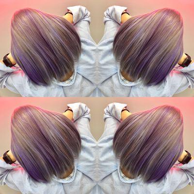 无痕紫灰渐效果图