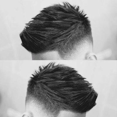 男士剪发作品图