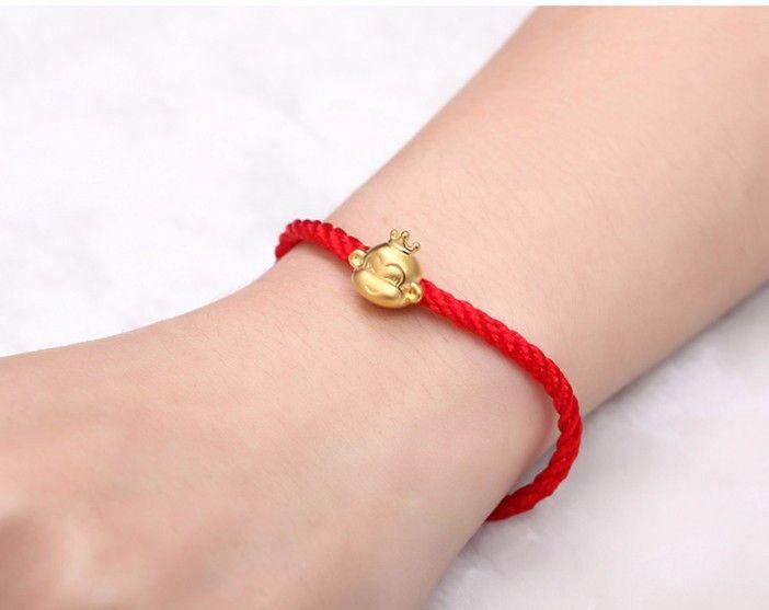 红绳_傲柔红绳猴子手链