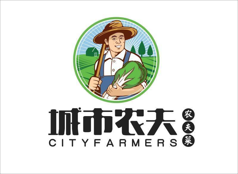 农夫logo_城市农夫生态餐饮