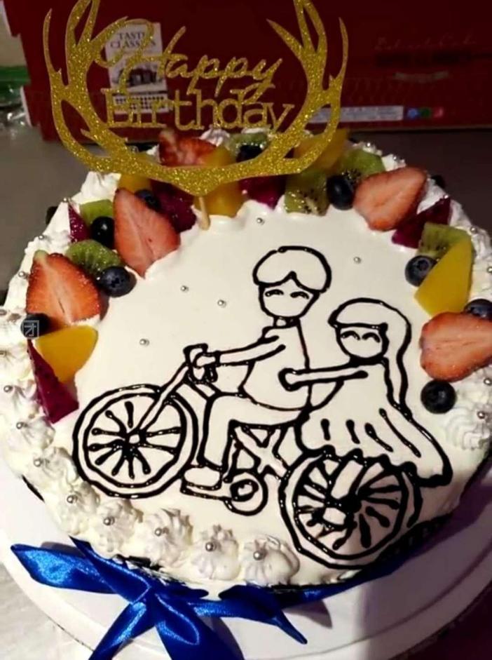 12英寸创意手工画蛋糕