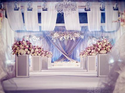 克拉婚礼克拉婚礼 相约520紫罗兰唯美婚礼布置 金华美团网