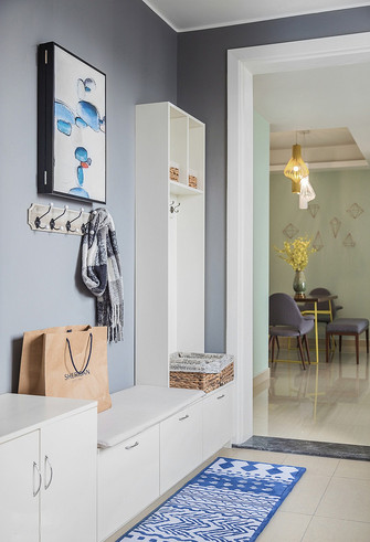 10-15万120平米三室两厅北欧风格走廊图片