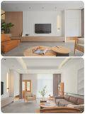 120平米三室两厅日式风格客厅图片大全