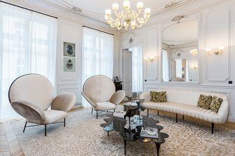 豪华型140平米三室一厅法式风格客厅设计图