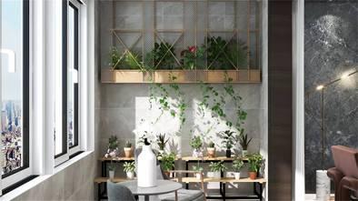 富裕型100平米三室两厅现代简约风格阳台图片