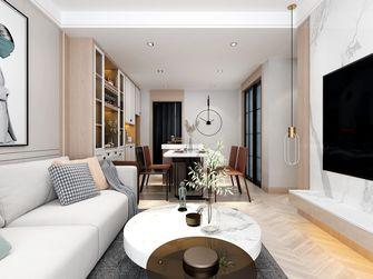 富裕型90平米现代简约风格客厅图片大全