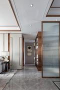 富裕型120平米三中式风格走廊欣赏图