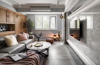 富裕型120平米混搭风格客厅效果图