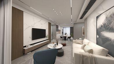 富裕型130平米三室两厅现代简约风格客厅设计图