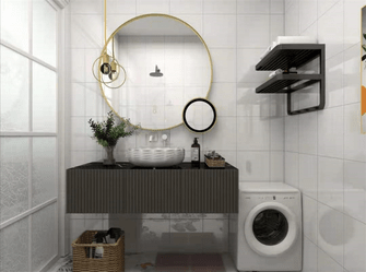 60平米公寓轻奢风格卫生间图片